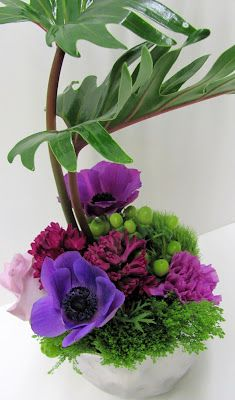 Worcester florists - Sprout: Corporate Party in Purple and Green