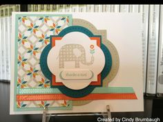 Stampin up patterned occasions, nice how she used the corners