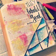 Bible Journaling by Christina Lowery @christinasalive   Exodus 24:9-11
