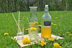 ŽENA-IN - Léčivá síla pampelišek - nevařený sirup Nordic Interior, Natural Medicine, Carafe, Food To Make, Smoothies, Health Fitness, Food And Drink, Homemade, Drinks