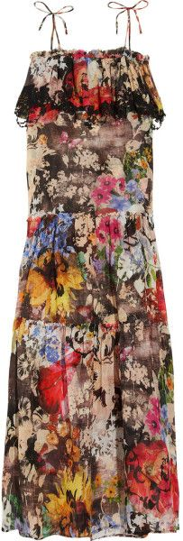 Emamo Jardin Printed Cotton Maxi Dress @Lyst