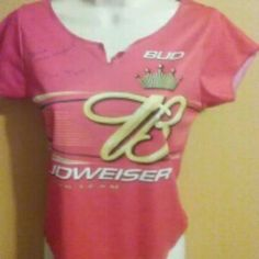 *SIGNED*NHRA Tean Budweiser Tee signed by Brandon I got this from Brandon himself and he signed it. It was about seven years ago. It wad the year rge celebrated Team Bernstein/Budweiser together! budweiser Tops Tees - Short Sleeve