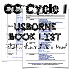 Half-a-Hundred Acre Wood: CC Cycle 1 Usborne Book List