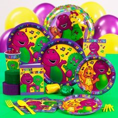 Barney Standard Party Pack For 8