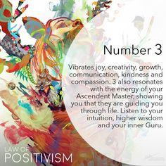 When Number 3 appears repeatedly, it suggests that your prayers and positive affirmations have been heard and are being responded to by the Universal Energies. You have guidance, stay positive and social🌸 Divine art by Numerology Numbers, Astrology Numerology, Meaning Of Life, Sacred Meaning, Spiritual Awakening, Positive Affirmations, Intuition, Law Of Attraction, Mindfulness