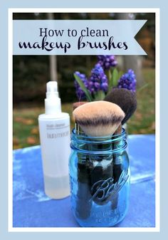 How to clean makeup brushes #beauty