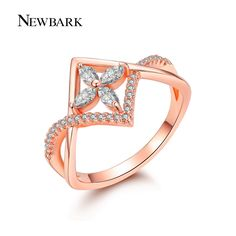 Find More Rings Information about NEWBARK Beautiful Ring 18K Rose Gold Plated…