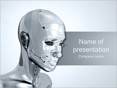 Technology and simple template full robot concept 2 different steel robot powerpoint template backgrounds id 0000003336 toneelgroepblik Gallery