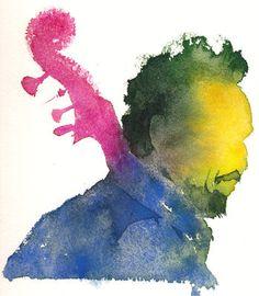 charlie mingus - watercolour www.kateosborneart.com