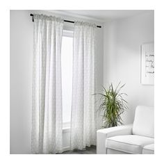 CANDICE< BUY 4 pairs or these of the VIVAN all white ones. you pick FLÖNG Curtains, 1 pair  - IKEA
