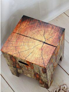 Dutch Designer Chair – Kartonowy stołek - Tree Trank