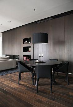 Dark wood interior