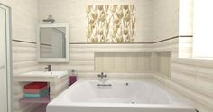 Bathroom Tile Designs, Coraline, Alcove, Bathtub, Standing Bath, Bathtubs, Bath Tube, Bath Tub, Tub