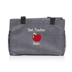 Gifts that teachers will appreciate & use! Thirty-One All-In Organizer with apple Icon-It