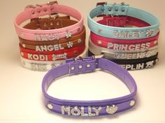 "Personalized Custom Fashion Leather Classic Dog Collar Swarovski Crystal Rhinestone Letters Plus Free Charm Black, Hot Pink, Purple, Baby Blue, White, Red, Brown, Pink, Silver Size Medium Large XLarge (Purple, Med 15""L x 3/4"" W) Snazzi Pet http://www.amazon.com/dp/B00HNKPWF8/ref=cm_sw_r_pi_dp_-mNSwb17PS4CA"