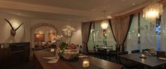 Restaurants im Schweizerhof Lenzerheide Places To Eat, Great Places, Switzerland, Restaurants, Beautiful, Home Decor, Decoration Home, Room Decor, Restaurant