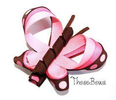 Triple ribbon sculpture butterfly hair bow.