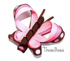 This is too cute! Butterfly Triple Ribbon Sculpture Hair Bow Clippie by ThoseBows, $3.00