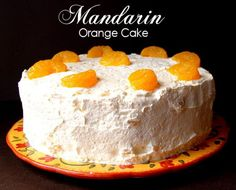 1 box yellow cake mix 1/2 cup oil 4 eggs 1 can mandarin oranges with juice 20 oz whipped topping 1 large box vanilla pudding 1 can crushed pineapple with juice Bake at 350 for 23-28 minutes for 2 round 9 in pans
