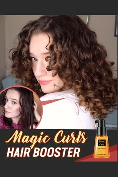✨Instantly perks up your curls with this Booster!✨ ✅ The organ oil formula boosts your curls with no frizz, no sticky residue!! 💕😍Rock your curls all day with this 100% toxin-free treatment! 🔥🔥Get It Now!🔥🔥 Natural Hair Care, Natural Hair Styles, Short Hair Styles, Curled Hairstyles, Diy Hairstyles, Curly Hair Tips, Tips Belleza, Hair Health, Hair Tools