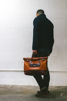 The 'Daytripper', Men's Leather Overnight Bag, Men's Fall Winter Fashion.