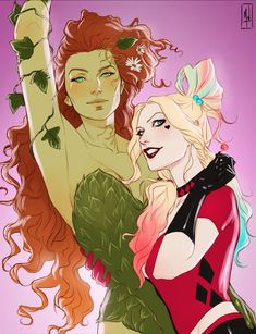 Harley Quinn and Poison Ivy got married and I got inspired! May they be happy forever Harley Quinn and Poison Ivy got married and I got inspired! May they be happy forever Batgirl, Catwoman, Harley Quinn Comic, Joker And Harley Quinn, Gotham City, Dc Poison Ivy, Poison Ivy Batman, Poison Ivy Dc Comics, Poison Ivy Cosplay