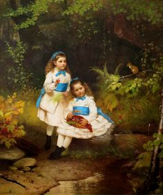 John George Brown - By the forest brook