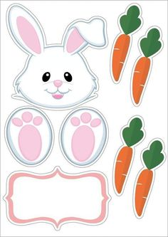 cards, pergamano and paintings - Page 60 Bunny Crafts, Easter Crafts, Christmas Crafts, Bunny Party, Easter Party, Diy And Crafts, Crafts For Kids, Arts And Crafts, Happy Easter