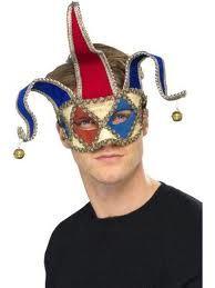 Maschera occhi Jocker, rigida con sonagli ed elastico per fissarla. Travestimento per Carnevale e festa a tema veneziana. Disponibile da C&C Creations Store