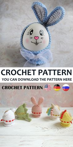 Coats for Easter Eggs Crochet pattern in English This master class consists of: Description of Cute Rabbit A step-by-step guide with photos Difficulty level: entry-level Quick Crochet Patterns, Crochet Patterns For Beginners, Crochet Blanket Patterns, Beginner Crochet, Free Crochet, Crochet Gifts, Crochet Toys, Handmade Toys, Handmade Ideas
