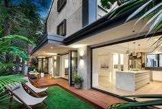 It's the final week of The Block: Triple Threat but who will walk away with the most amount of money when their South Yarra homes go under the hammer on Wednesday? Outdoor Living, Outdoor Decor, Residential Architecture, Colorful Interiors, Townhouse, Cool Designs, New Homes, Real Estate, Patio