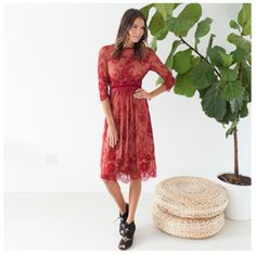 Journey Five | Lace Dress This Lace dress is so elegant and beautiful you will love it.  Its fully lined so you don't need to wear anything underneath.