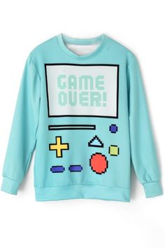 Game Over SweatshirtOASAP Giveaway, 10 pieces per day, till the end of 2014! Easiest way to get free clothing!