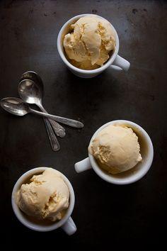 Roasted Peach Ice Cream | Hint of Vanilla