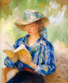 Reading Claudine reading Femme lisant Claudine with book La liseuse Claudine reading in a red dress Claudin...