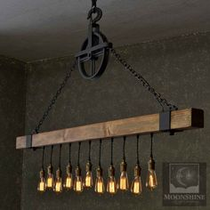 Der Dunsmuir – Holzbalken Kronleuchter Bobberbrothers The Dunsmuir - Wooden Beam Chandelier Bobberbrothers Farmhouse Lighting, Rustic Lighting, Industrial Lighting, Bar Lighting, Kitchen Lighting, Lighting Design, Lighting Stores, Modern Lighting, Lighting Ideas
