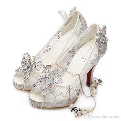 Zapatos 2016 zapatos de vestido de novia de lujo elegante de la perla de…