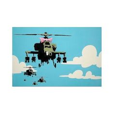 Trademark Global Banksy 'War' Canvas Art ($60) ❤ liked on Polyvore featuring home, home decor, wall art, pink canvas wall art, wall street art, photo wall art, pink home decor and canvas wall art