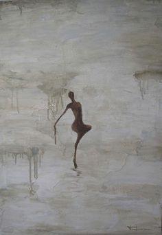 Danza IV - óleo s/lienzo 70 x 50