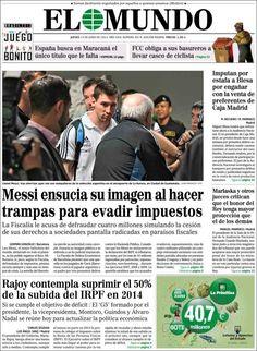 Los Titulares y Portadas de Noticias Destacadas Españolas del 13 de Junio de 2013 del Diario El Mundo ¿Que le parecio esta Portada de este Diario Español?