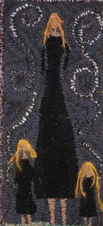 Laura Kenney Rugs: Let Me Wear Black Laura Kenny, Hook Punch, Rya Rug, Rug Hooking Designs, Rug Inspiration, Hand Hooked Rugs, Navy Rug, Penny Rugs, Quilted Pillow