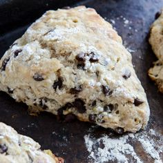 SCONE - Banana Bread Scones @keyingredient #chocolate #bread