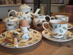 Egg and Feather collection with cup and saucer that was only availible in the original issue