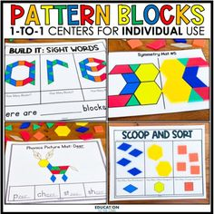 Feeling uneasy about prepping for next year? Whether you are in the classroom or are teaching virtually, these 1:1 Pattern Blocks Centers will come in handy! Each student will have his/her set of counters and mats, and they are good to go! No cutting sets of games/centers for each student! Engage your students at school and/or at home with our 1:1 centers!