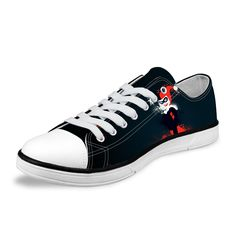 3eb3e4337207c4 Classic Low Style Canvas Shoes Joker and Harley Quinn Printed   Price    52.24