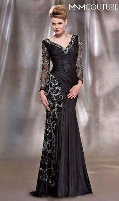 # MNM Couture Dress 8997 #blackcouturedress