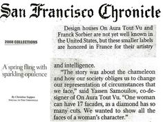 San Francisco Chronicle 2008. On aura tout vu couture
