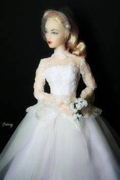 Jamieshow Gene Marshall ~ in Tonner Marilyn Monroe wedding gown ~ Image and styling by JinCincy ~ The Studio Commissary