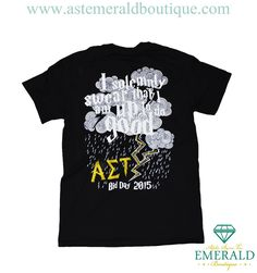 "Alpha Sigma Tau ""I solemnly swear that I am up to do good"" HP Themed Bid Day V-Neck!"