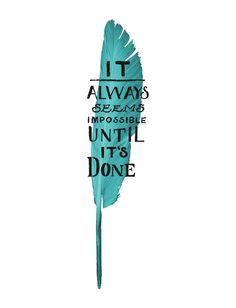 It Always Seems Impossible Flowy V Neck